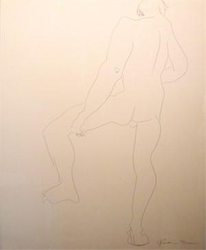 Male Nude Back, c. 1960