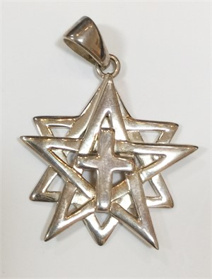 Pendant - The World Cross of Sterling Silver 7568, 2019