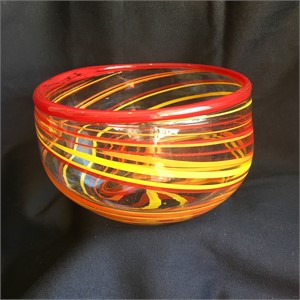 Red and Yellow swirl bowl