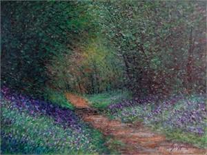 Path Through The Blue Bonnets by James Scoppettone