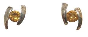 Earrings - Sterling Silver & Citrine JVE3059C