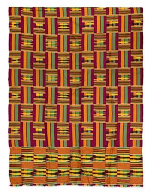Kinthe Cloth Ashanti Tribe-Ghana, c.1970