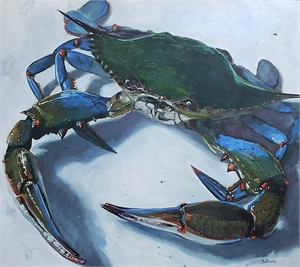 Blue Crab on White Plate, 2014
