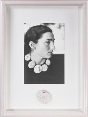 Jacqueline Picasso with Medallion (Picasso Museu Invitation for the Picasso Ceramics 2012-13 Exhibition), 1957, 1977, 2012