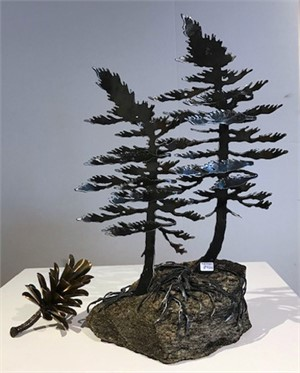 Two Pines on Rock 3380