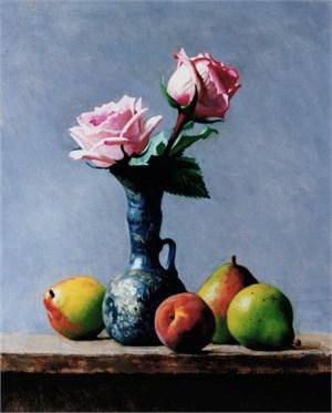 Venetian Vase & Pink Roses