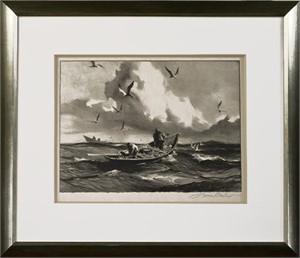 Seagulls & Fishermen, c.1940