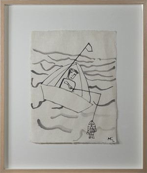 Fisherman in Boat, 1991