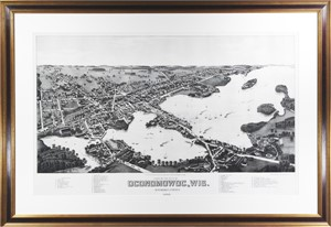 View of the City of Oconomowoc, WI, Waukesha Co. 1885, 2002