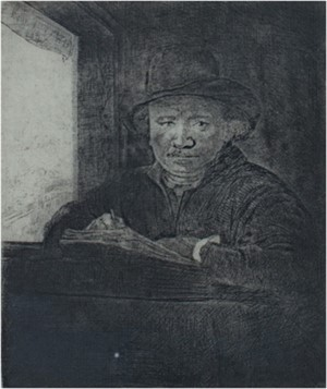 Self Portrait Drawing at a Window, 1648