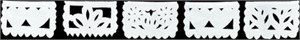 "Papel Picado Banner - Mini 36"" Love White Banner"