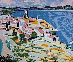 Mediterranean Coast (blue), c. 1905