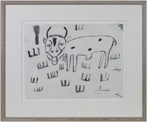 Untitled (Cow Eating Grass) To be sold as pair only (9333g), 1991