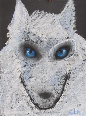 BLUE EYES WHITE WOLF