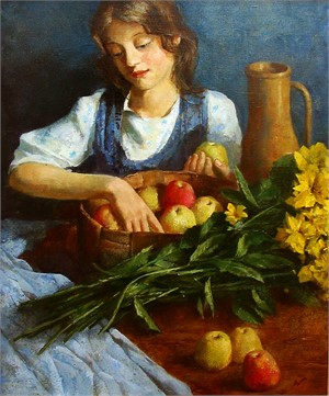GIRL W/APPLES