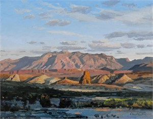 The Chisos from the West, Big Bend, 2016