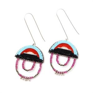 Blue Bow Ruby Earrings, 2020