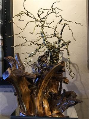 Bronze & Steel Tree on Mesquite Root Ball
