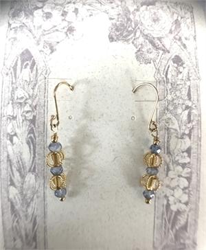 Earrings - Iolite & Gold Vermeil  #8667, 2020