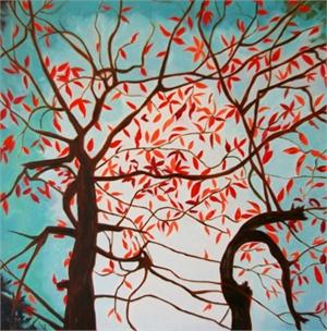 Crimson Couple Canopy