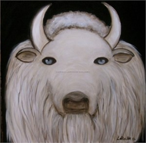 "WHITE BUFFALO - limited edition giclee on canvas 30""x30"""