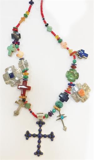 KY 1348 - Single Strand Multi Color Cross, 2020