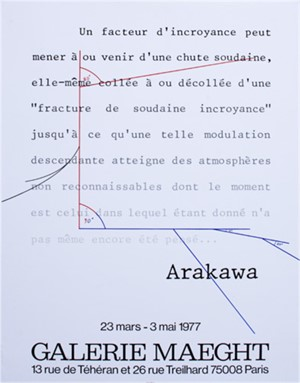 Galerie Maeght poster by Shusaku Arakawa