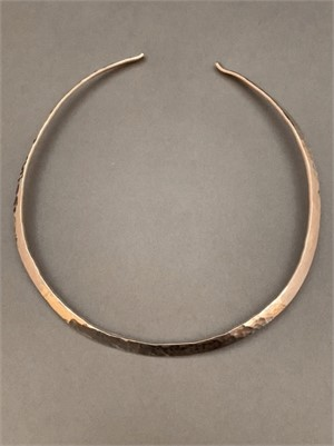Necklace - Sterling Silver hand forged Collar. Average size.  AS039, 2019