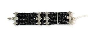 Bracelet - Crosses in Black #31521