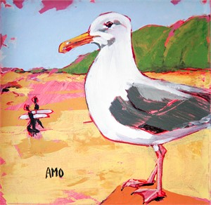 Gull and Surfers