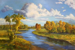 A River in Autumn by Nancy Whitaker