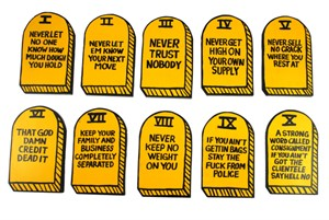 """Ten Crack Commandments"" by Van Holmgren"