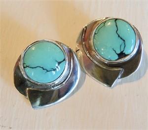 Tibetan Turquoise Post Earring