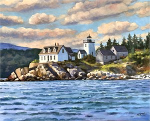 Lighthouse at Rockport Harbor