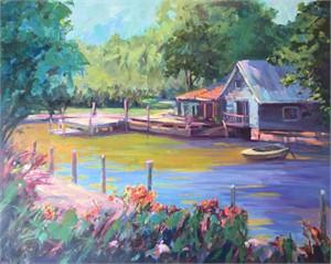 Old Florida View by Linda Richichi