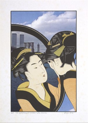 The Reflection of Sugatami After Utamaro, 1979