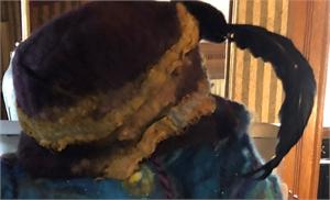 """Plum Starry Night Hat """"M"""""""