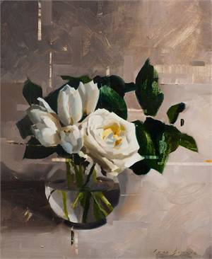 White Rose and Tulips, 2018