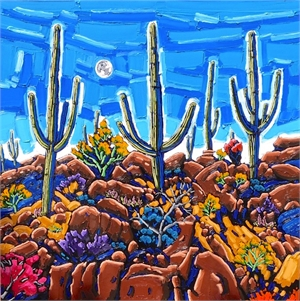 Sonoran Desert Moon