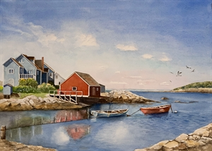 Harbor at Peggy's Cove by Naomi Cashman