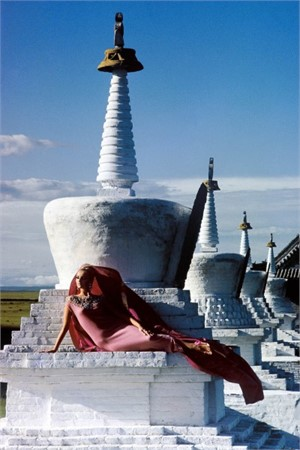 Outer Mongolia: Pink Cashmere at the Erdeni Dzuu Lamasary in Karakorum, 1966
