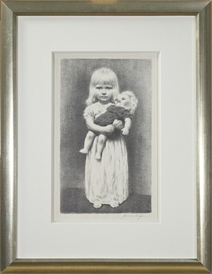Little Girl With Doll, c.1940