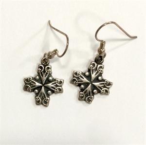 Earrings - Silver Jerusalem Cross 8926, 2019