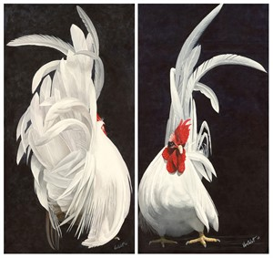 Japanese Rooster (pair), 2018