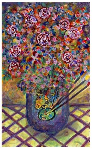 Famous Artist Series: Homage to Marc Chagall Artist's Palette Bouquet (AP III/XXV), 2008