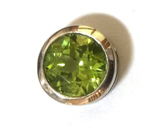 Pendant-Peridot and Sterling Silver Slide