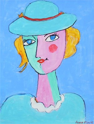 Lady In Blue Hat