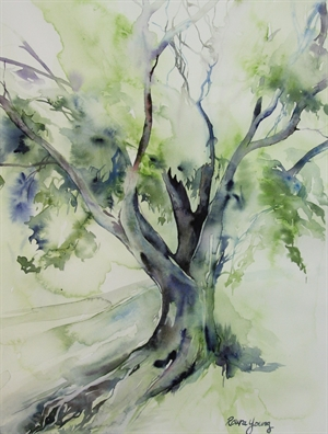Tree After Rain by Roura Young
