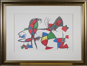 "Original Lithograph X from ""Miro Lithographs II, Maeght Publisher"", 1975"
