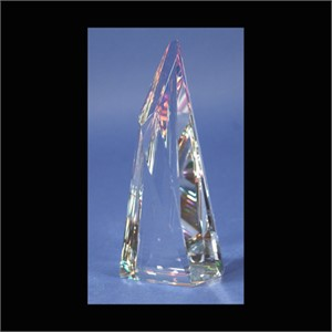 "Crystal Triangle Multi Faceted 6""-S"